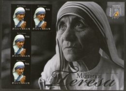 Guyana 2011 Mother Teresa Of India Nobel Prize Winner Sc 4065 Sheetlet MNH # 9085 - Mother Teresa