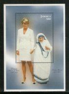 Jamaica 1998 Mother Teresa Of India Princess Diana Nobel Prize Winner Sc 872 M/s MNH # 5778 - Mutter Teresa