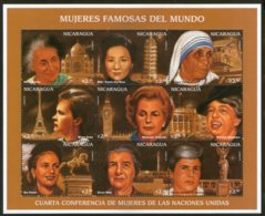 Nicaragua 1996 Mother Teresa Indira Gandhi Roosevelt Marie Curie Sc 2164 Sheetlet MNH # 9487 - Mother Teresa