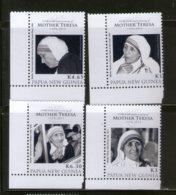 Papua New Guinea 2010 Mother Teresa Of India Nobel Prize Winner Sc 1498-1501 MNH # 2511 - Mother Teresa