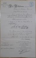 ORDE VAN ORANJE-NASSAU TOT, OFFICIER M. C. VAN HATTEM AANNEMER LE SANTA FE. ANNEE 1906, PAYS-BAS. WILHELMINA -LILHU - Documents Historiques