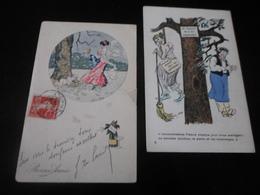 LOT DE 33 CPA / ILLUSTRATEURS A.GUILLAUME - POULBOT - SNAM - ASTI - GRANDVILLE - SAGER - GILLES - BOURET ... - Cartes Postales