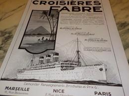 ANCIENNE PUBLICITE A TRAVERS L ORIENT CROISIERE FABRE  1928 - Barcos