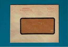 EMA *15 F Paris 47 Sur Enve Office D'annoncesParis,rue Vivienne - Poststempel (Briefe)