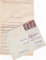 ALLEMAGNE 1943 WW2 TIMBRES SERIE ADOLF HITLER TAMPON A DATE FRANCFORT ET TAMPON ROUGE Ae - Allemagne