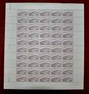 Feuille De 50 Valeurs FRANCE 1946 N°759 ** (VÉZELAY. 5F LILAS) Coin Daté:1.7.46 - France