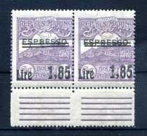 1926 SAN MARINO SET MNH ** N.129 COPPIA - Unused Stamps