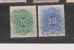 COB 1 Et 2 Oblitération à Barres Rurale Muette - Stamps