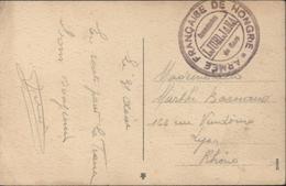 Guerre 14 Cachet Armée Française De Hongrie Commission De Gare Ljubljana FM Franchise Militaire CP Ljubljana - Guerre De 1914-18