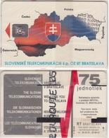 525/ Slovakia; P4. The Map Of The Slovakia, SC4, C35141492, Rare - Slowakei