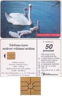 526/ Slovakia; P48. The Swans, GEM 1A.2 Rare Chip - Slowakei