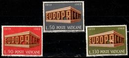 VATICAN 488/490° Europa 1969 10ème Anniversaire De De La Conférence Européenne Des Postes (10% De La Cote + 0,25) - Vatican