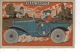 """44 - St NAZAIRE SUR LOIRE - T.B. Petite Carte Publicitaire """" Illusion """" - Etablis. Marcel Hauton ( Encaustique , Cirage) - Werbung"""