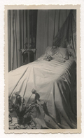 PHOTO ANCIENNE Portrait Post Mortem Postmortem 1943 Homme Lit Photographie Corps Mort Photo Mortuaire Décès - Anonyme Personen