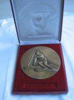 Magnifique Et Imposante (18 Cm) Médaille De Ski - SLALOM - Graveur CONTAUX  **** EN ACHAT IMMEDIAT **** - Sports D'hiver