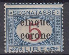 TRENTO E TRIESTE - Segnatasse Sassone N.9  Cv 220 Euro - Gomma Integra - MNH** - Trentin & Trieste