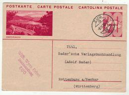 Suisse /Schweiz/Svizzera/Switzerland  // Entier Postaux // Entier Postal Pour Rottenburg Le 8.09.1932 - Interi Postali