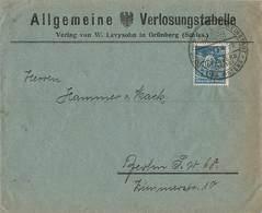 DR Infla Brief, 27.2 23 SST. Grünberg Schlesien EF MI.239 , Allgemeine Verlosungstabelle W. Levysohn - Briefe U. Dokumente
