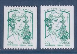= Marianne Et La Jeunesse Ciappa Kawena 2 Roulettes N°4778 Verso Blanc (118) Et Plutôt Jaunâtre (305) - Rollo De Sellos