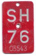 Velonummer Schaffhausen SH 76 - Placas De Matriculación
