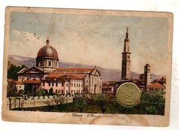THIENE VICENZA   VIAGGIATA 1940 MACCHIE SUL FRONTE E RETRO RARA - Vicenza