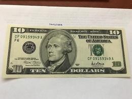United States Hamilton $10 Uncirc. Banknote 2001 #2 - Nationale Valuta