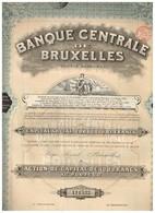 Titre Ancien - Banque Centrale De Bruxelles - Société Anonyme - Titre De 1920 - - Banque & Assurance