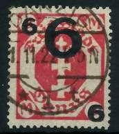 DANZIG 1922 Nr 106b Gestempelt Gepr. X88D06A - Dantzig