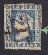 1854 British India Half Anna Scratched Plate. - India (...-1947)