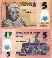NIGERIA, 5 NAIRA, 2019, P38j, POLYMER, UNC - Nigeria