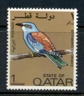Qatar 1972 Bird, European Roller 1d MUH - Qatar