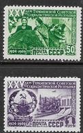 Russia  1950   Sc#1440-1  Turkman Republic High Values MNH  2016 Scott Value $21.50 - 1923-1991 USSR