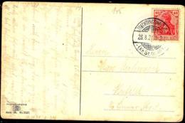 Allemagne Poste Obl Yv:123 Mi:145 Germania Deutsche Reich (TB Cachet à Date) Carte Trechtingshausen 26-8-21 - Allemagne