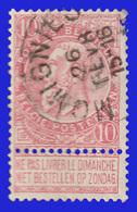 """COB N° 58 - Belle Oblitération """"MOMIGNIES"""" - 1893-1900 Schmaler Bart"""