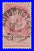 """COB N° 58 - Belle Oblitération """" RUYSBROECK"""" - 1893-1900 Schmaler Bart"""