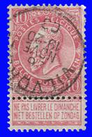 """COB N° 58 - Belle Oblitération """" VILVOORDE"""" - 1893-1900 Schmaler Bart"""