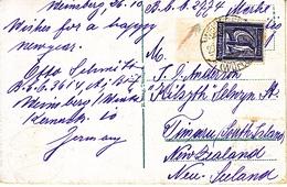 GERMANY  COVER  TO  NEW  ZEALAND  1922 - Brieven En Documenten
