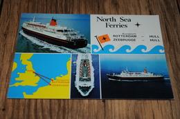 12741-            NORTH SEA FERRIES, ROTTERDAM - HULL / ZEEBRUGGE - HULL / SCHIP / SHIP - Ferries