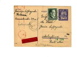 Ganzsache GG P 12 02:  8.2.44 Warschau Als Eilboten Nach Ungarn, Zensur - Besetzungen 1938-45