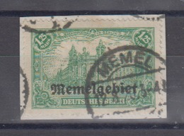 Memelgebiet Freimarke MiNo. 10 Briefstück O (65.-) - Memel (Klaïpeda)