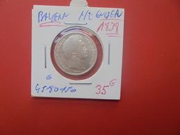 BAYERN 1/2 GULDEN 1838 ARGENT (A.12) - Groschen & Andere Kleinmünzen