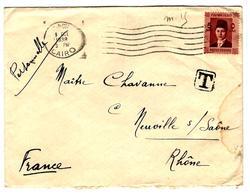 31920 A - Pour La France Avec 5 Timbres Taxe - Égypte