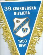 Fanion Football,flag,NK Rijeka,Croatia,39 Kvarnerska Rivijera - Size: 21cm/31cm - Kleding, Souvenirs & Andere