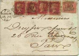 Lettre De Grande Bretagne Pour Paris - 1840-1901 (Viktoria)