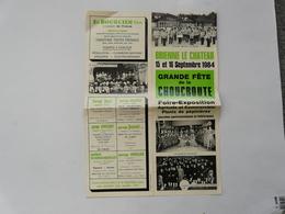 VIEUX PAPIERS - PROGRAMME DES FESTIVITES : BRIENNE LE CHATEAU - 15 Et 16 Septembre 1984 - Grande Fête De La Choucroute - Programmes