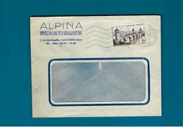 Cachet De Nanterre Plateau Seine Sur Enve Alpina Plastiques à Nanterre Seine - Postmark Collection (Covers)