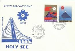 VATICANO,  SOBRE  PRIMER DIA  EXPO 70 - Covers & Documents