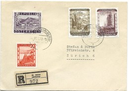 243 - 39 - Enveloppe Recommandée Envoyée De St Anton En Suisse 1948 - 1945-.... 2nd Republic