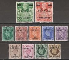 Somalia B.A.1950 SaN°21-31 11v Cpl MNH/** - Somalie