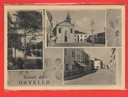 Rovigo Gavello Cpa X Vicenza 1954 Vedutine - Rovigo